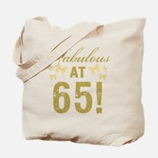Fabulous 65th Birthday Tote Bag