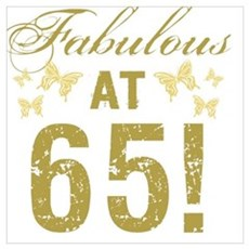 Fabulous 65th Birthday Poster