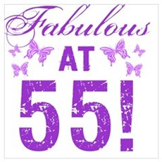 Fabulous 55th Birthday Poster