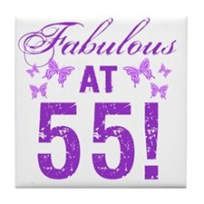 Fabulous 55th Birthday Tile Coaster