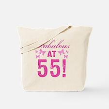 Fabulous 55th Birthday Tote Bag