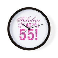 Fabulous 55th Birthday Wall Clock