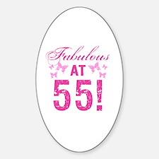 Fabulous 55th Birthday Decal