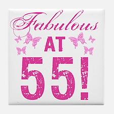 Fabulous 55th Birthday Tile Coaster