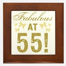 Fabulous 55th Birthday Framed Tile