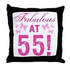 Fabulous 55th Birthday Throw Pillow