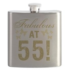 Fabulous 55th Birthday Flask