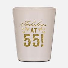 Fabulous 55th Birthday Shot Glass