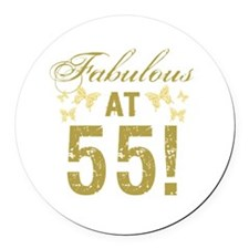 Fabulous 55th Birthday Round Car Magnet