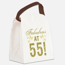 Fabulous 55th Birthday Canvas Lunch Bag