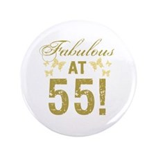 Fabulous 55th Birthday Button