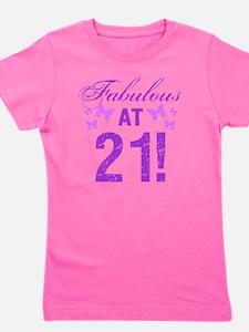 Fabulous 21st Birthday Girl's Tee