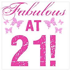 Fabulous 21st Birthday Poster