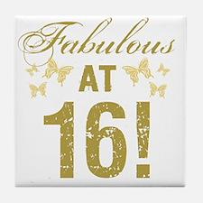 Fabulous 16th Birthday Tile Coaster