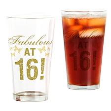 Fabulous 16th Birthday Drinking Glass