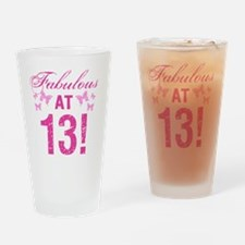 Fabulous 13th Birthday Drinking Glass