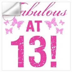 Fabulous 13th Birthday Wall Decal