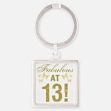 Fabulous 13th Birthday Square Keychain