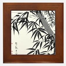 Asian Bamboo Framed Tile