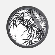 Asian Bamboo Wall Clock