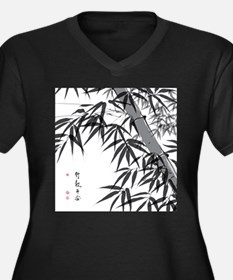 Asian Bamboo Plus Size T-Shirt