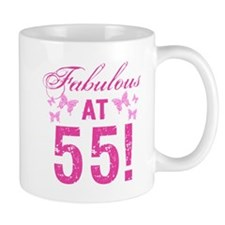Fabulous 55th Birthday Mugs