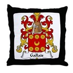 Gallais Family Crest Throw Pillow