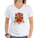 Gallais Family Crest Women's V-Neck T-Shirt