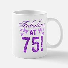 Fabulous 75th Birthday Mugs