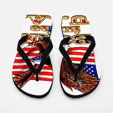 Eagle And USA Flag Flip Flops
