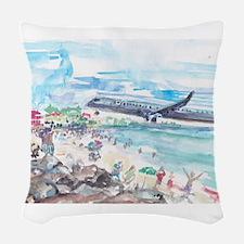 Sunset Beach SXM Woven Throw Pillow