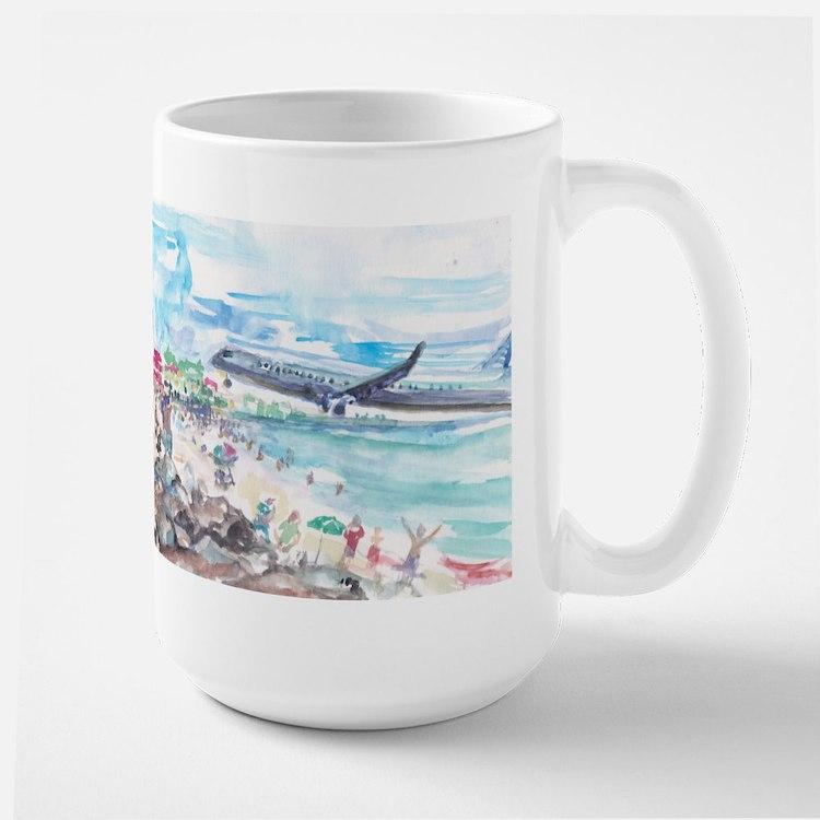 Sunset Beach SXM Large Mug