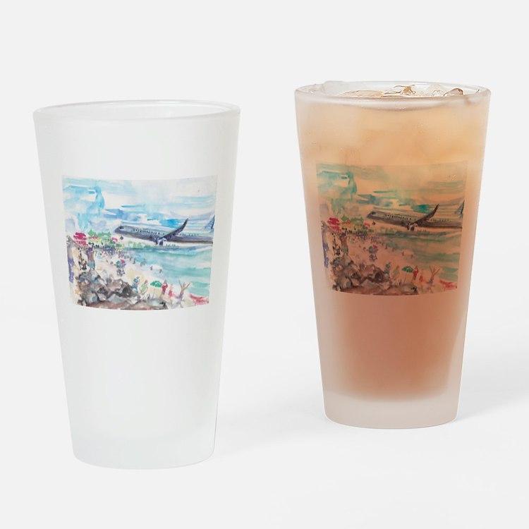 Sunset Beach SXM Drinking Glass