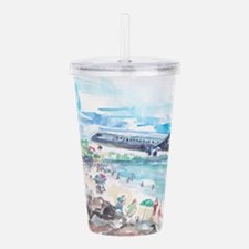 Sunset Beach SXM Acrylic Double-wall Tumbler