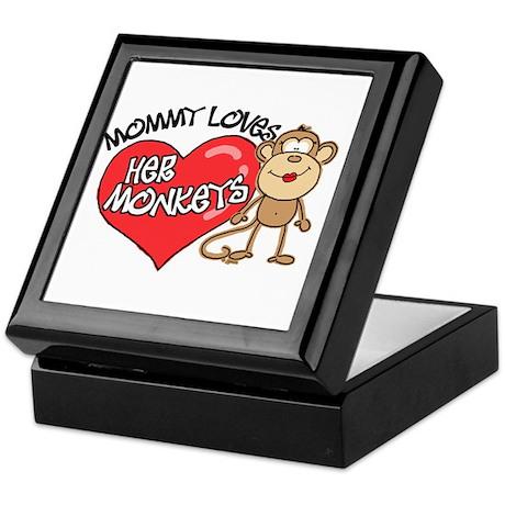Mommy Loves Her Monkeys Keepsake Box