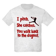 I PITCH, SHE CATCHERS T-Shirt