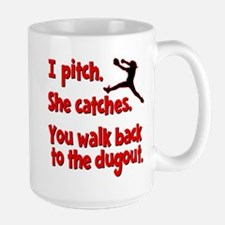 I PITCH, SHE CATCHERS Mug