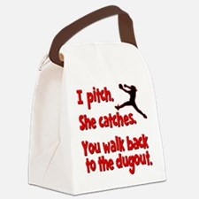 I PITCH, SHE CATCHERS Canvas Lunch Bag