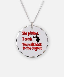 SHE PITCHES, I CATCH Necklace