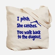 I PITCH (both sides) Tote Bag