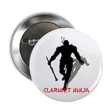 "Clarinet Ninja 2.25"" Button (10 pack)"