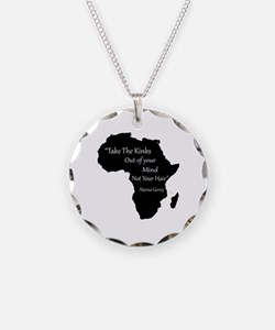 Cute African Necklace Circle Charm