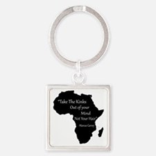 African Square Keychain