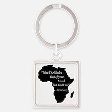 Cute Rastafari Square Keychain