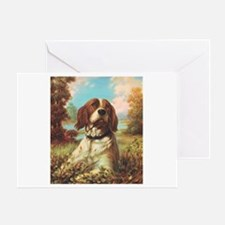 Vintage Brittany Spaniel Greeting Card