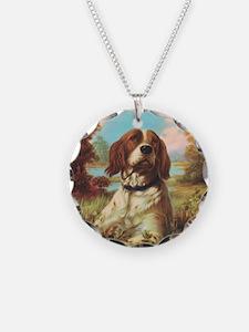 Vintage Brittany Spaniel Necklace