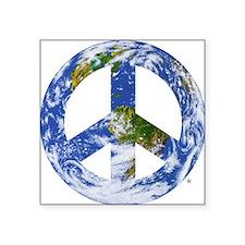 """Funny Peace Square Sticker 3"""" x 3"""""""