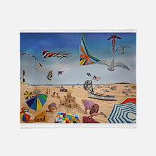 Robert Moses Beach Throw Blanket