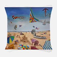 Robert Moses Beach Woven Throw Pillow