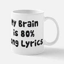 My Brain Is 80% Song Lyrics Mugs